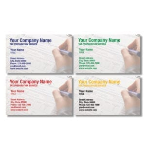 tax business card template 13