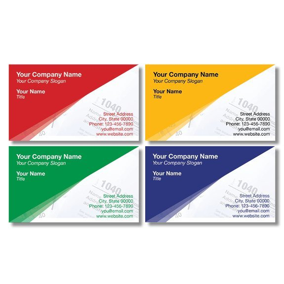tax business card template 14