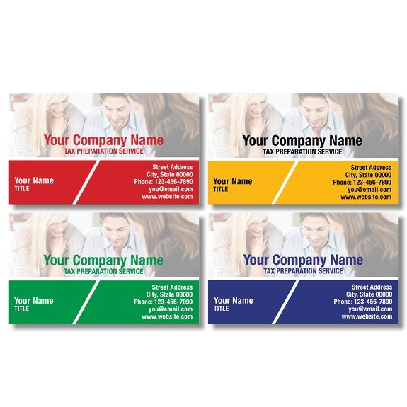 tax business card template 15
