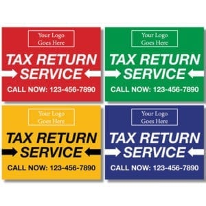 tax lawn sign template 10