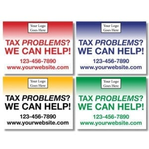 tax lawn sign template 11