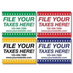 tax lawn sign template 12