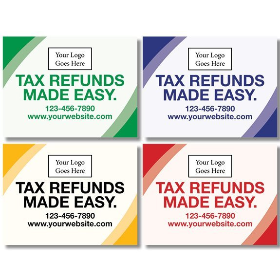 tax lawn sign template 15