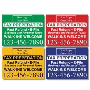 tax lawn sign template 03