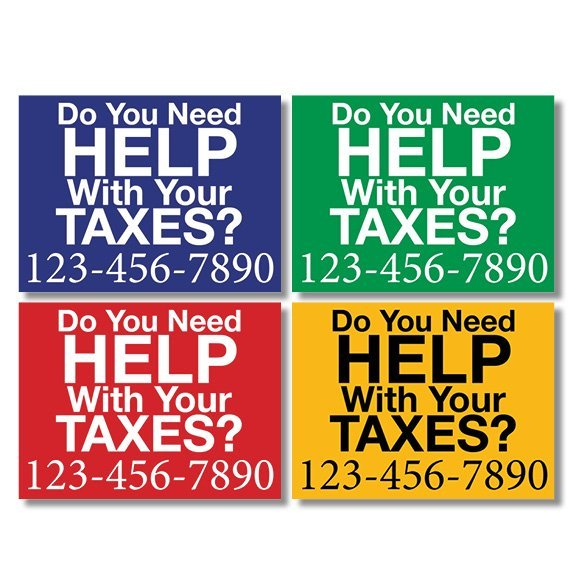 tax lawn sign template 07