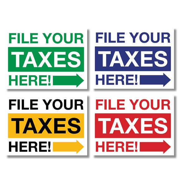 tax lawn sign template 08
