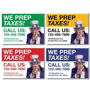 tax lawn sign template 09