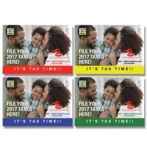 tax postcard template 11