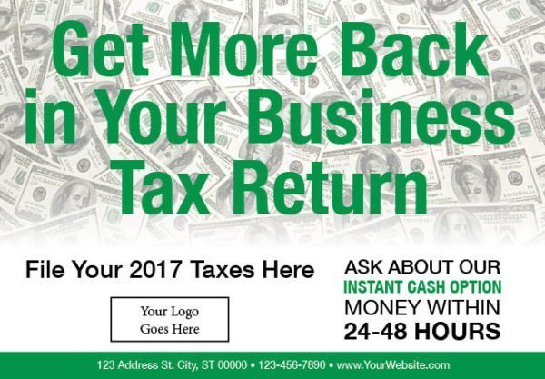 tax postcard template 04 green