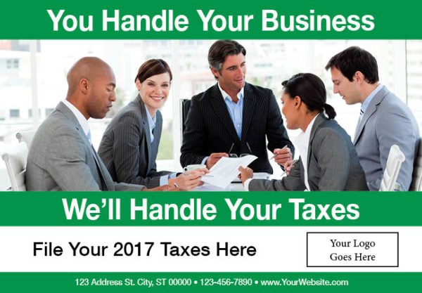 tax postcard template 05 green