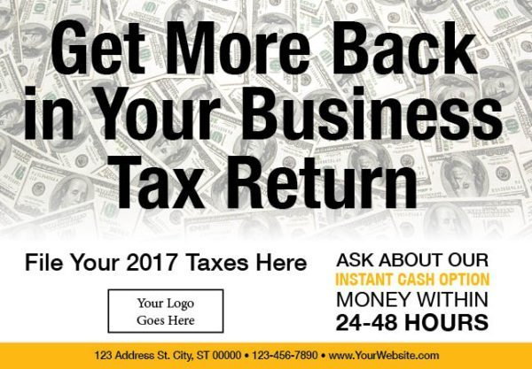 tax postcard template 04 yellow