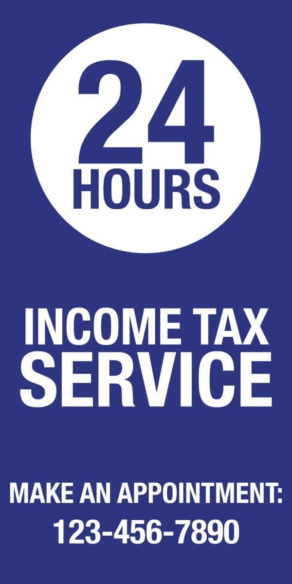 tax banner template 10 blue