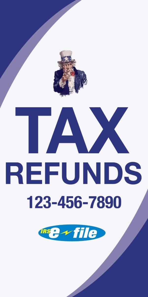 tax banner template 15 blue