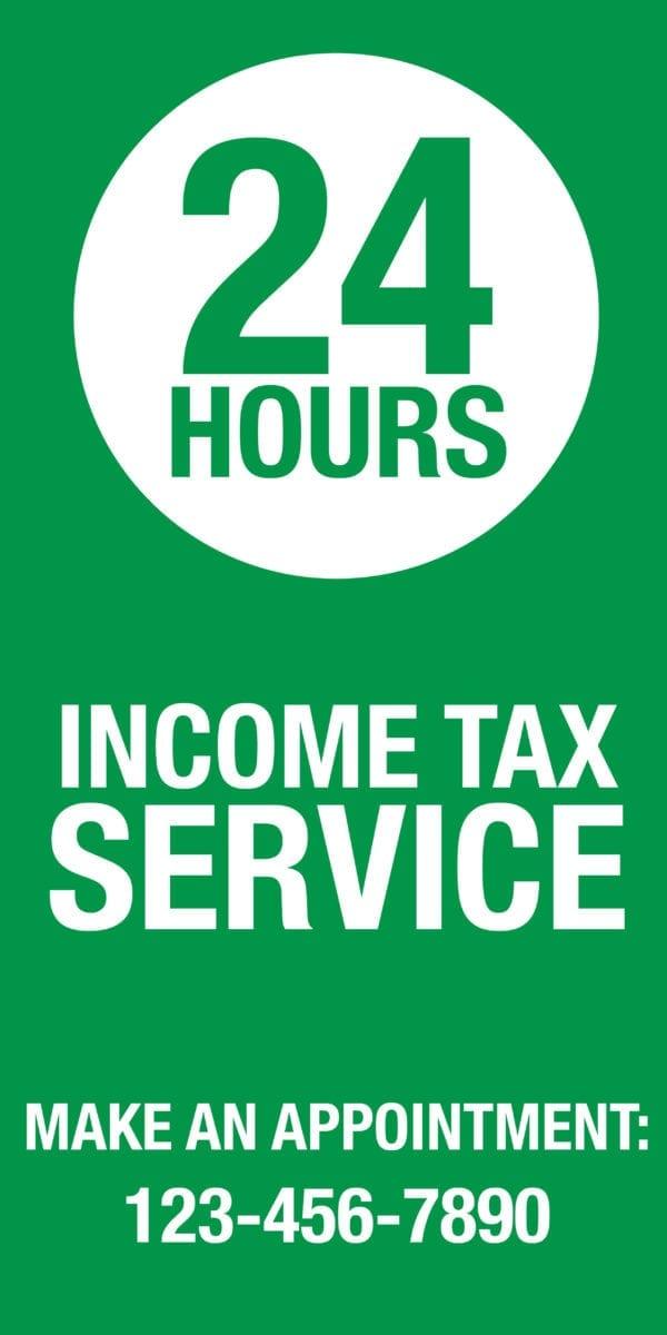tax banner template 10 green