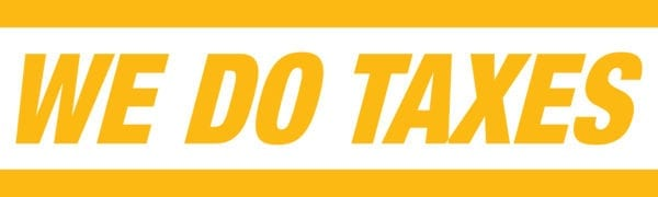 tax banner template 05 yellow