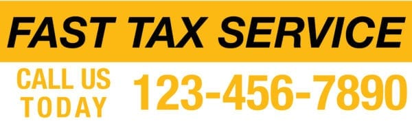tax banner template 08 yellow