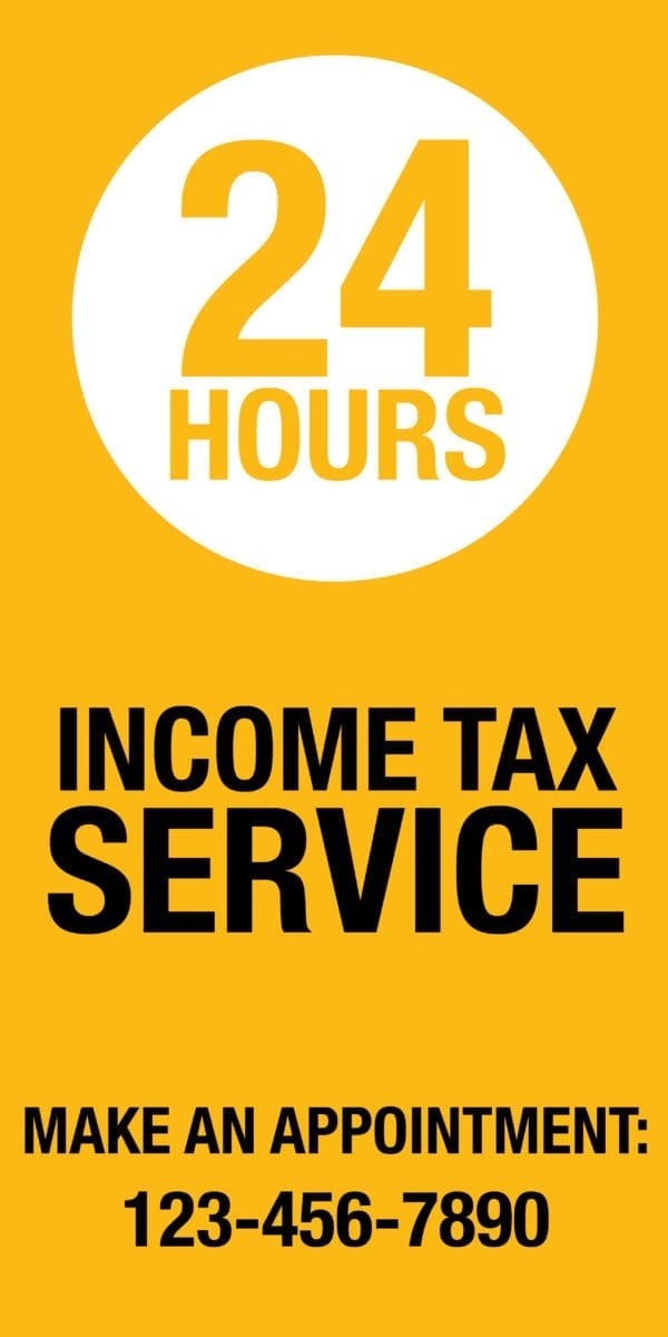 tax banner template 10 yellow