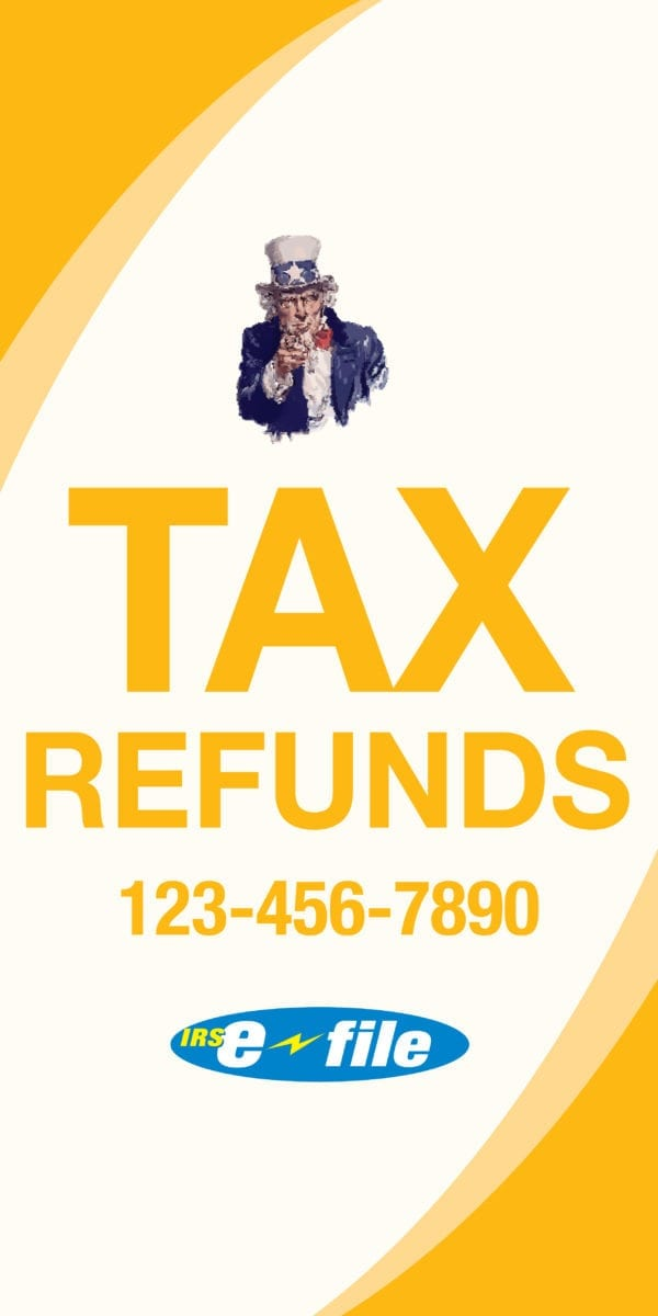 tax banner template 15 yellow