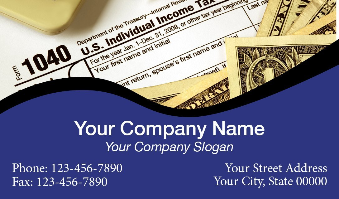Tax Business Card Template 01 1040
