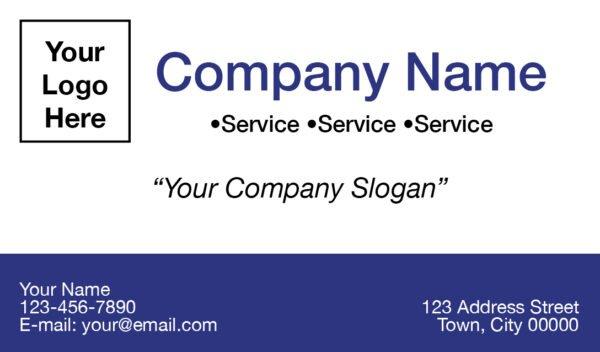 tax business card template 03 blue