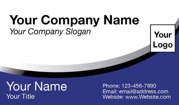 tax business card template 04 blue