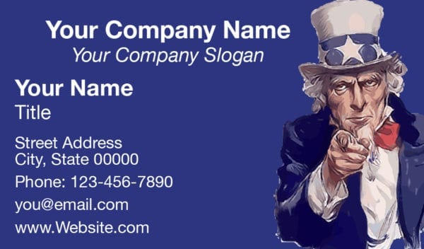 tax business card template 09 blue