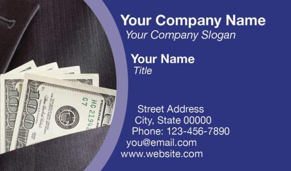tax business card template 11 blue