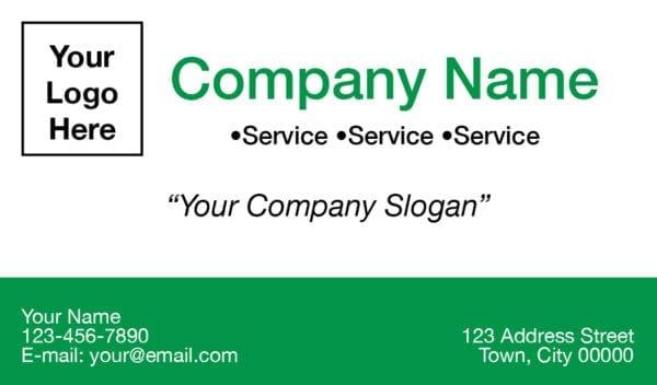 tax business card template 03 green