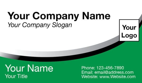 tax business card template 04 green