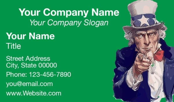 tax business card template 09 green