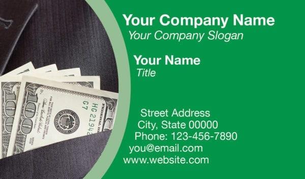 tax business card template 11 green