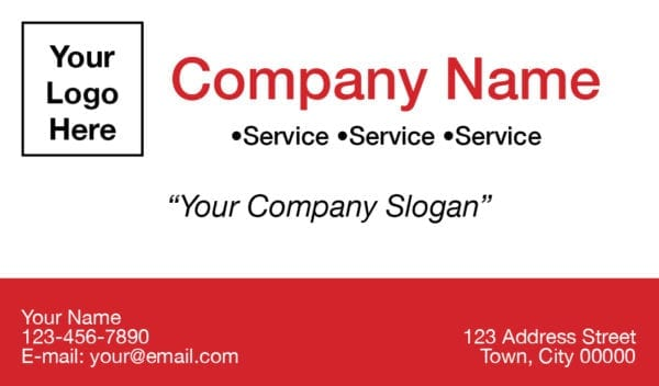 tax business card template 03 red