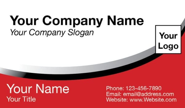 tax business card template 04 red
