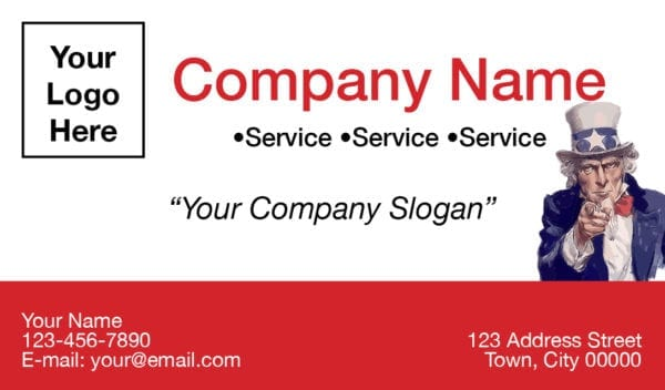 tax business card template 05 red