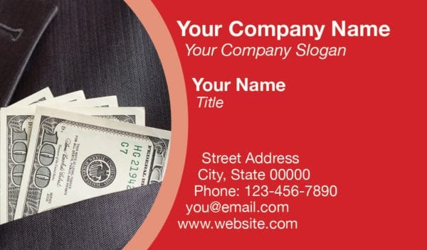 tax business card template 11 red