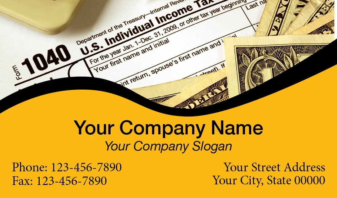 Tax Business Card Template 01