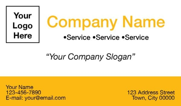 tax business card template 03 yellow