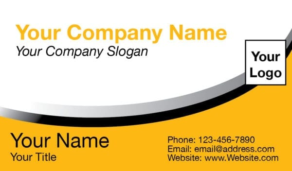 tax business card template 04 yellow