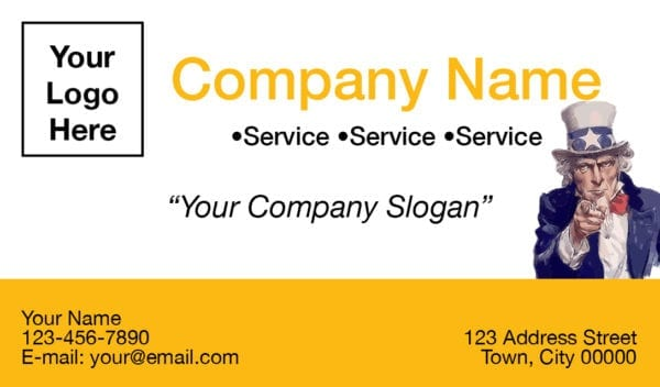tax business card template 05 yellow