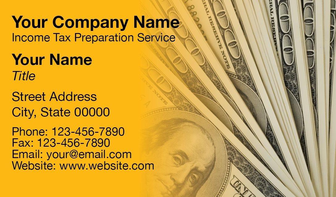 Tax Business Card Template 07 1040
