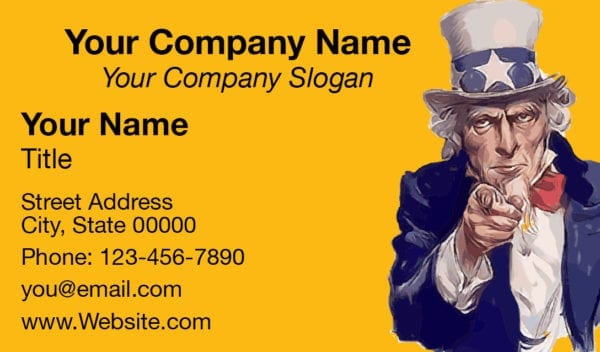tax business card template 09 yellow
