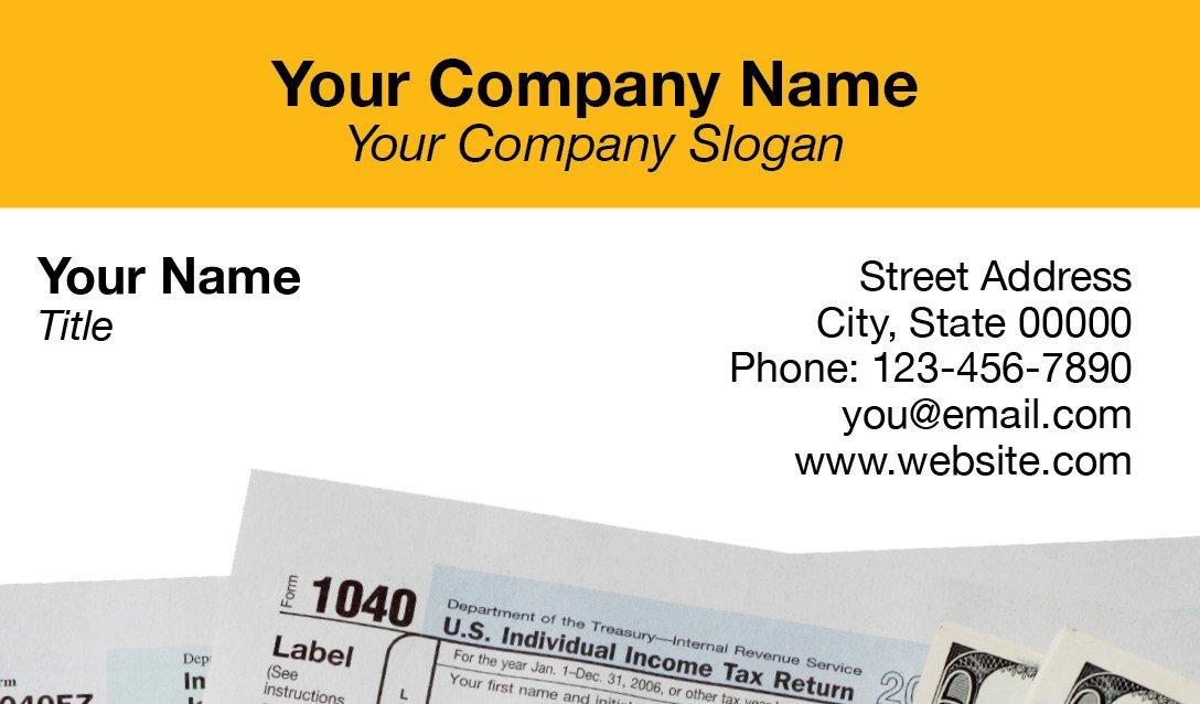 Business Card Template 10 1040 Tax