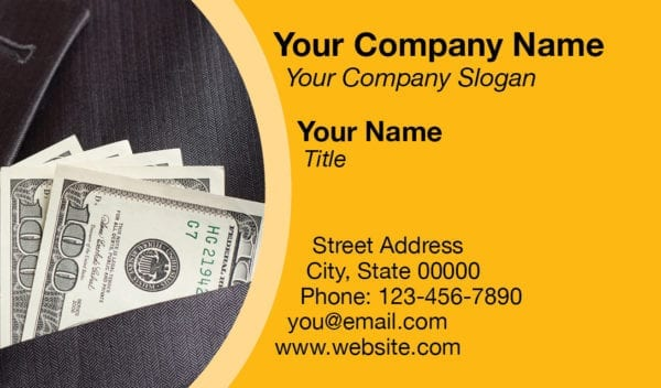 tax business card template 11 yellow