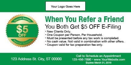 tax coupon template 11 green