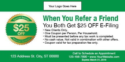 tax coupon template 07 green