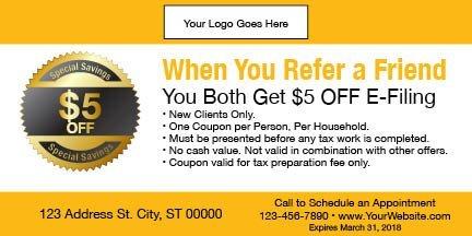 tax coupon template 11 yellow