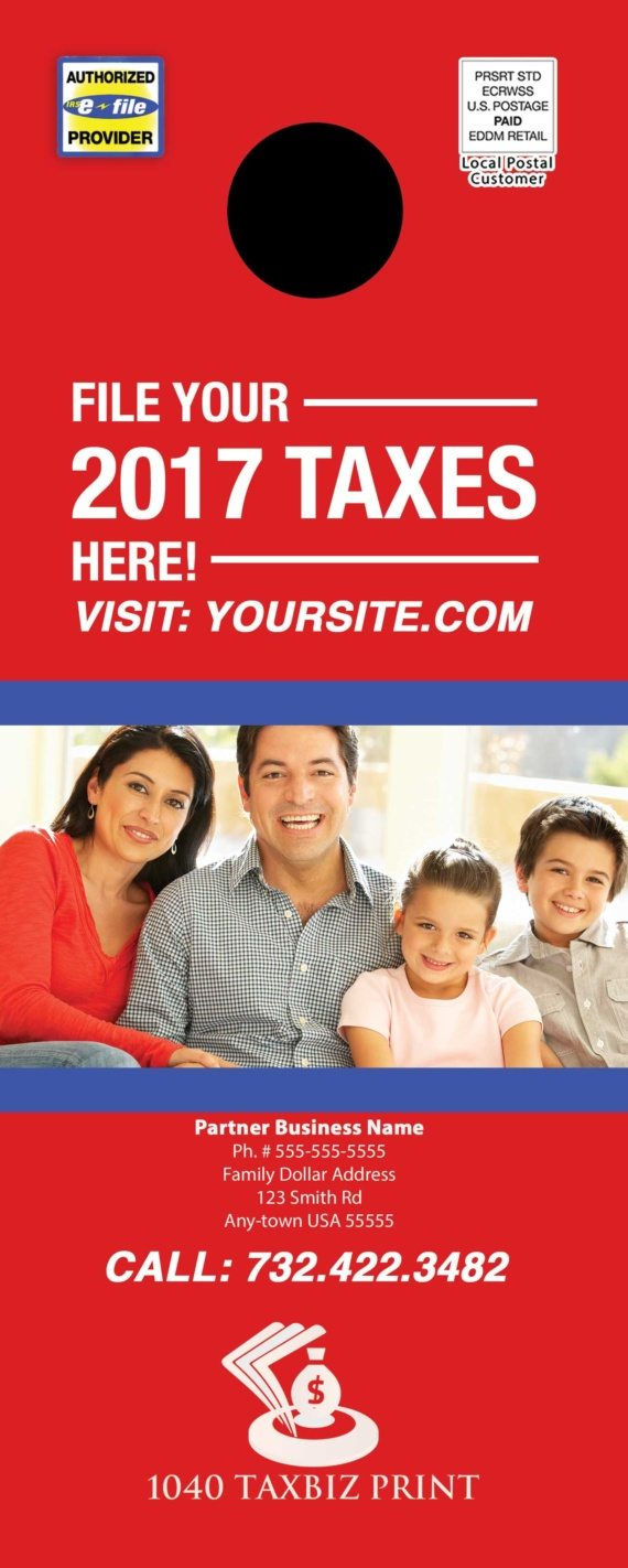 tax door hanger template 09 red