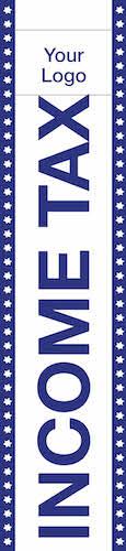 tax flag template 08 blue