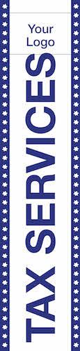 tax flag template 09 blue
