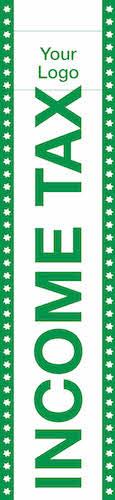 tax flag template 08 green